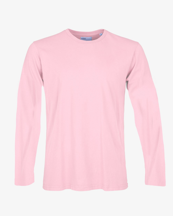 COLORFUL STANDARD MENS ORGANIC LONG SLEEVE T-SHIRT FADED PINK