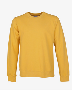 Colorful Standard organic crew sweatshirt burned yellow