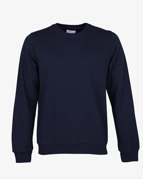 Colorful Standard organic crew sweatshirt navy blue
