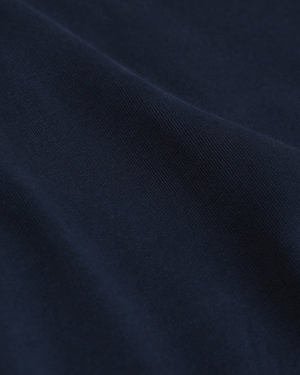 Colorful Standard organic crew sweatshirt navy blue close up