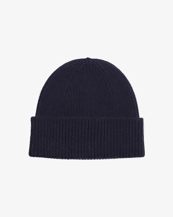 Colorful standard navy blue unisex beanie