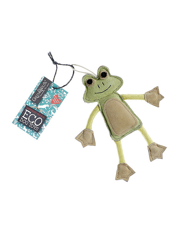 GREEN & WILDS FRANCOIS THE FROG ECO DOG TOY