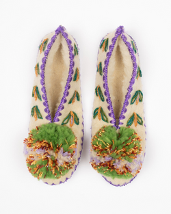 Give a pom Panos handmade slippers