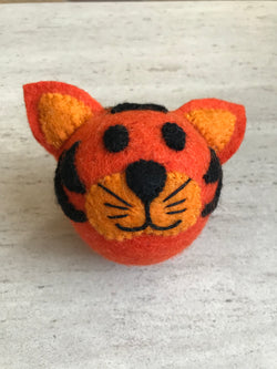 EVEREST HANDMADE WOOL TIGER DOG TOY