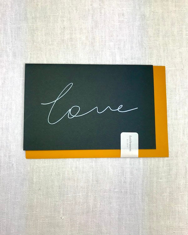 KATIE LEAMON - RECYCLED COFFEE CUP LOVE CARD