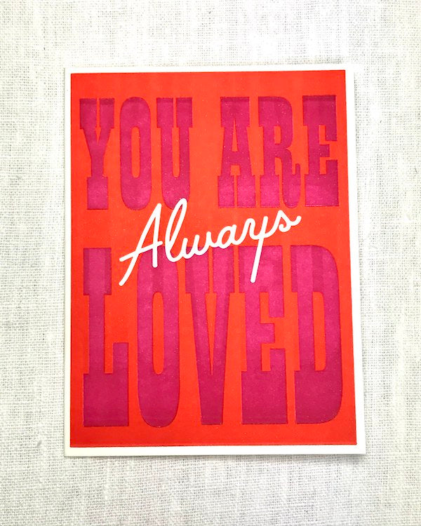 IMOGEN OWEN - YOU ARE ALWAYS LOVED valentines card