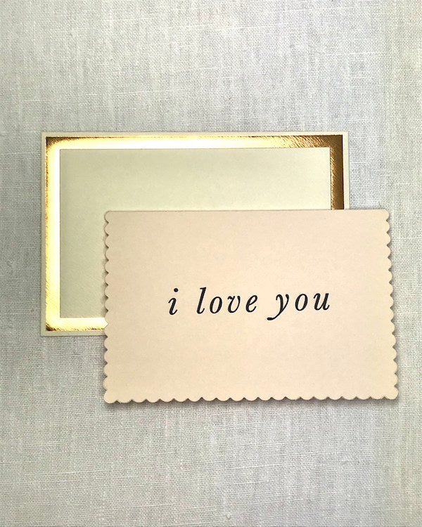 KATIE LEAMON - I LOVE YOU SCALLOPED VALENTINES CARD