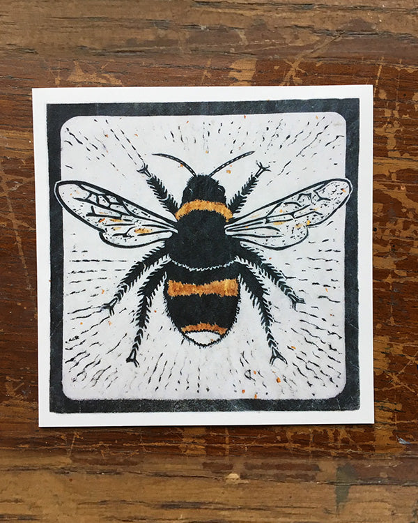 SARAH CEMMICK BUSY BEE LINO CARD