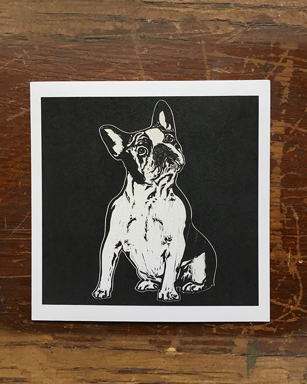 SARAH CEMMICK FRENCH BULLDOG LINO CARD