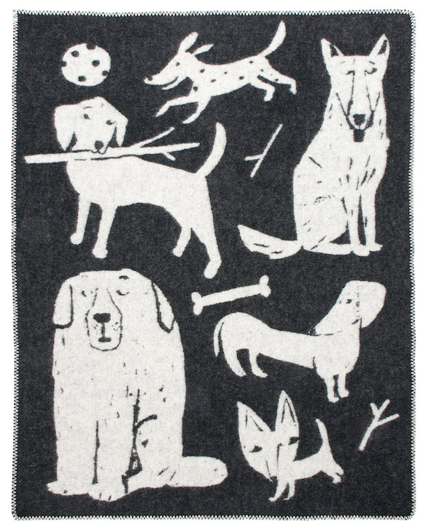 Lapuan Kankurit dog themed 100% wool blanket