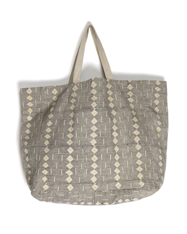 LOUISA LOAKES BLOCK PRINT FLORET BAG