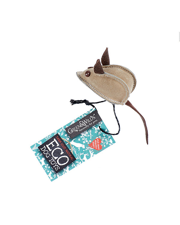 GREEN & WILD'S MIKE THE MOUSE ECO DOG TOY