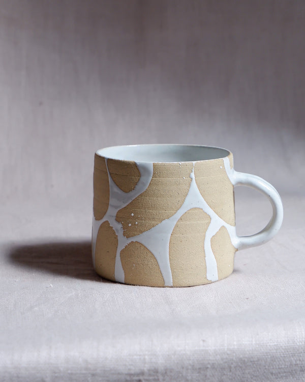Paige Mitchell White Brush Strokes Mug