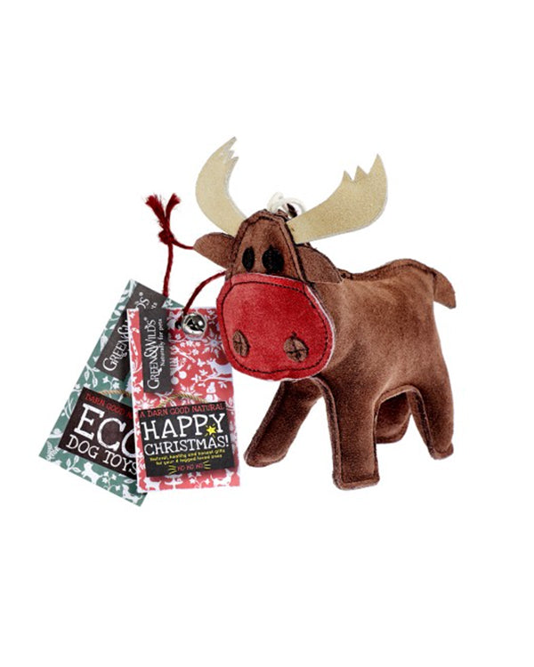 RUDY THE REINDEER CHRISTMAS ECO DOG TOY.