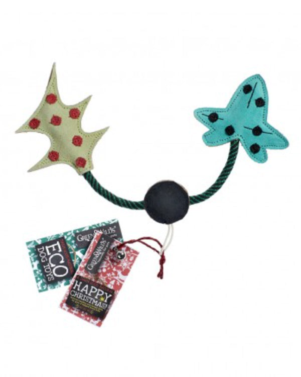 GREEN & WILDS HOLLY & THE IVY CHRISTMAS ECO DOG TOY