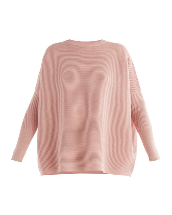 PAISIE RIBBED KNIT JUMPER ROSE PINK