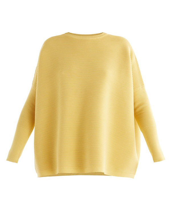 PAISIE RIBBED KNIT JUMPER YELLOW