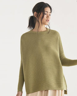 PAISIE RIBBED KNIT JUMPER OLIVE