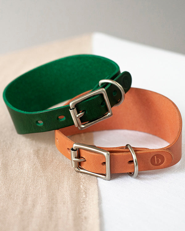 BARKENED BUTTERO LEATHER HOUND COLLAR