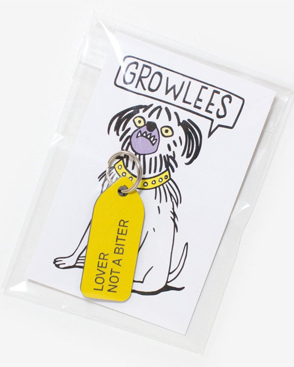 GROWLEES DOG COLLAR CHARM - LOVER NOT A BITER