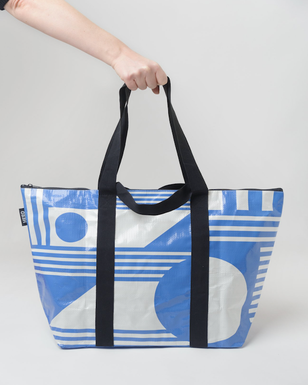 HERD TOTE BAG 'THE SANTORINI' ZIP TOP