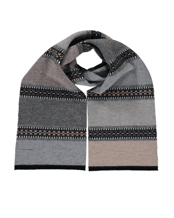 Quinton Chadwick block & line scarf in Earth & Sky