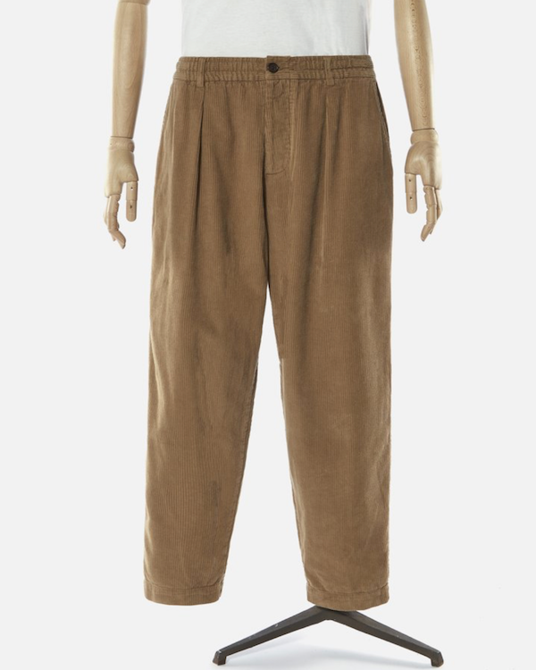 universal works taupe corduroy track pants