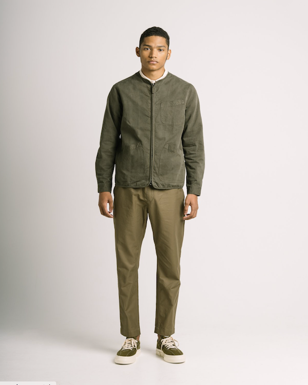KESTIN - SKYE OVERSHIRT IN DARK OLIVE COTTON TWILL