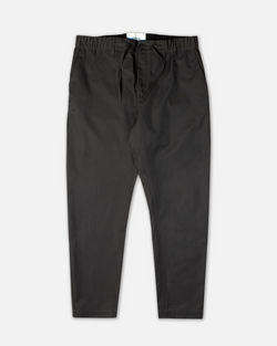 KESTIN - SLATE GREY WATER REPELLENT TAPERED DRAWSTRING TROUSERS