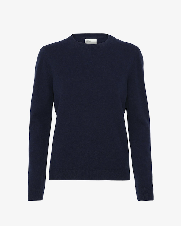 COLORFUL STANDARD WOMEN'S MERINO WOOL CREWNECK NAVY BLUE