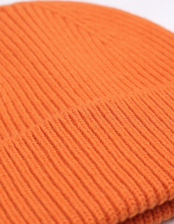 COLORFUL STANDARD UNISEX MERINO WOOL BEANIE - BURNED ORANGE