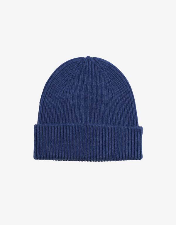 COLORFUL STANDARD UNISEX MERINO WOOL BEANIE ROYAL BLUE