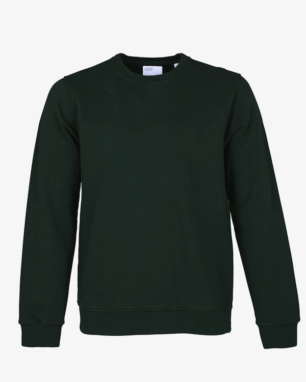 COLORFUL STANDARD MENS ORGANIC CREW SWEATSHIRT HUNTER GREEN