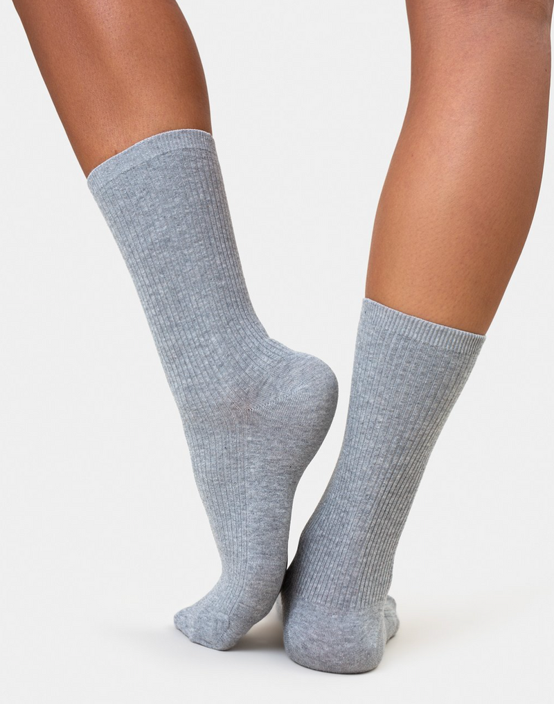 COLORFUL STANDARD WOMENS ORGANIC COTTON SOCKS - HEATHER GREY