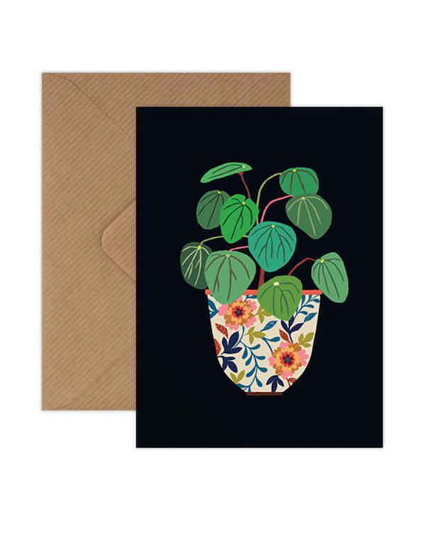 Brie Harrison pilea greetings card