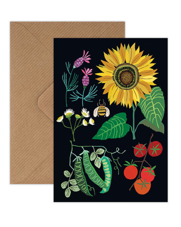 Brie Harrison sunflower plot card