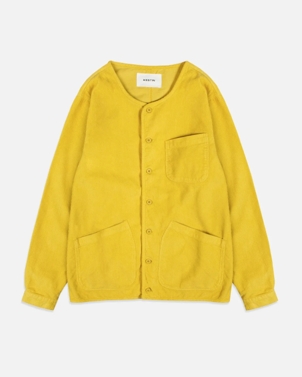 KESTIN - NEIST OVERSHIRT IN POLLEN YELLOW 11W COTTON CORD