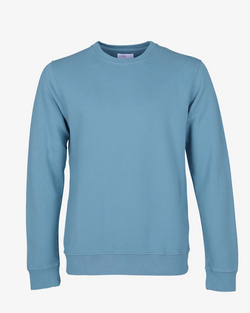 colorful standard mens organic sweatshirt stone blue