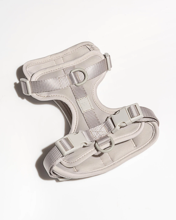 WILD ONE CUSHIONED WOVEN HARNESS LIGHT GREY