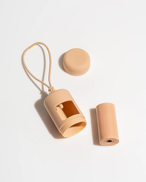 WILD ONE POOP BAG HOLDER TAN