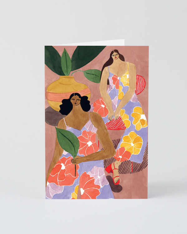Wrap Floral Girls Card Isabel Fileu