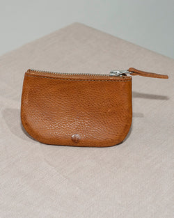 BARKENED LEATHER COIN PURSE