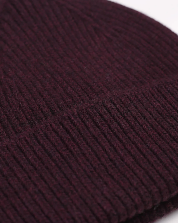 COLORFUL STANDARD UNISEX MERINO WOOL BEANIE - OXBLOOD RED