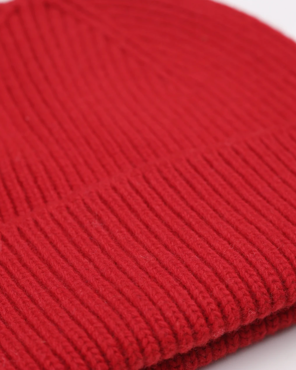 Colorful standard scarlet red unisex beanie