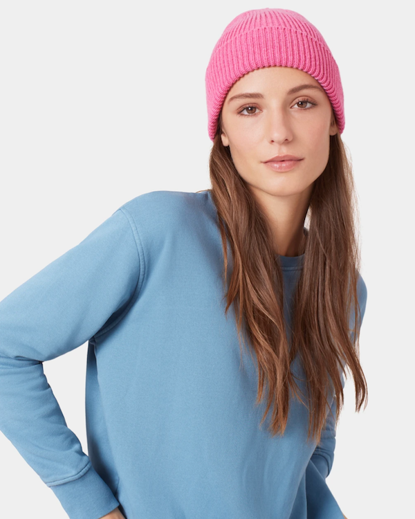 COLORFUL STANDARD UNISEX MERINO WOOL BEANIE - NAVY BLUE