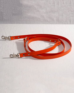 BUTTERO LEATHER HANDS FREE LONG DOG LEAD