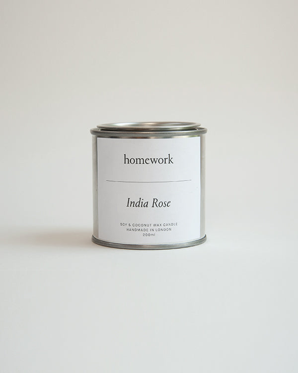 homework India Rose candle