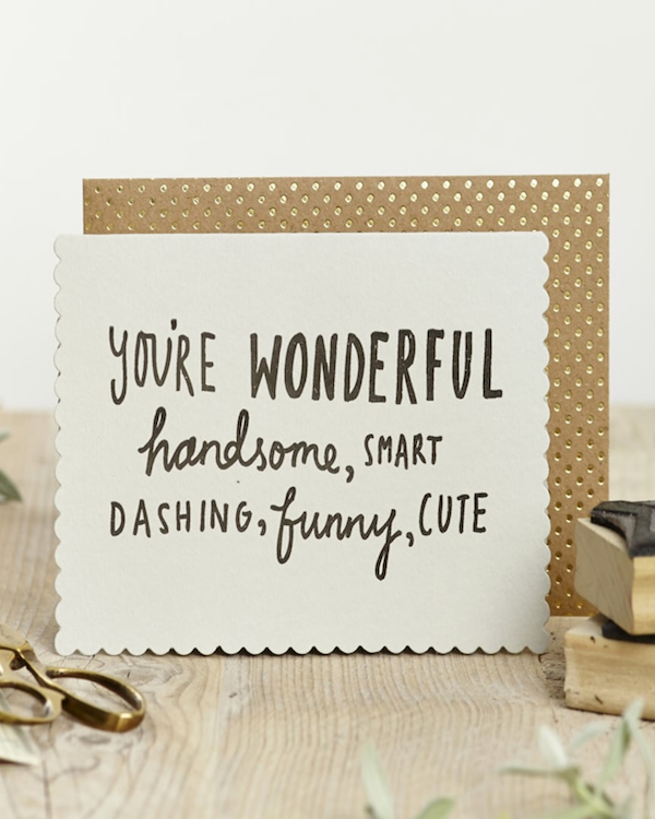 KATIE LEAMON - WONDERFUL & HANDSOME CARD