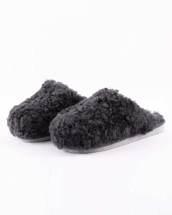SHEPHERD JENNY SHEEPSKIN SLIPPERS CHARCOAL GREY