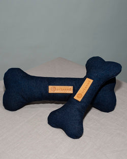 BARKENED UPCYCLED DENIM DOG BONE